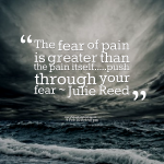 The fear of pain